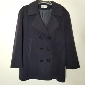 Vintage Double Breasted Wool Pea Coat